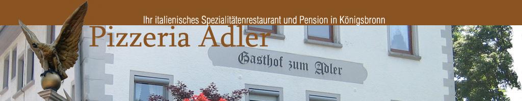 pizzeria adler königsbronn speisekarte